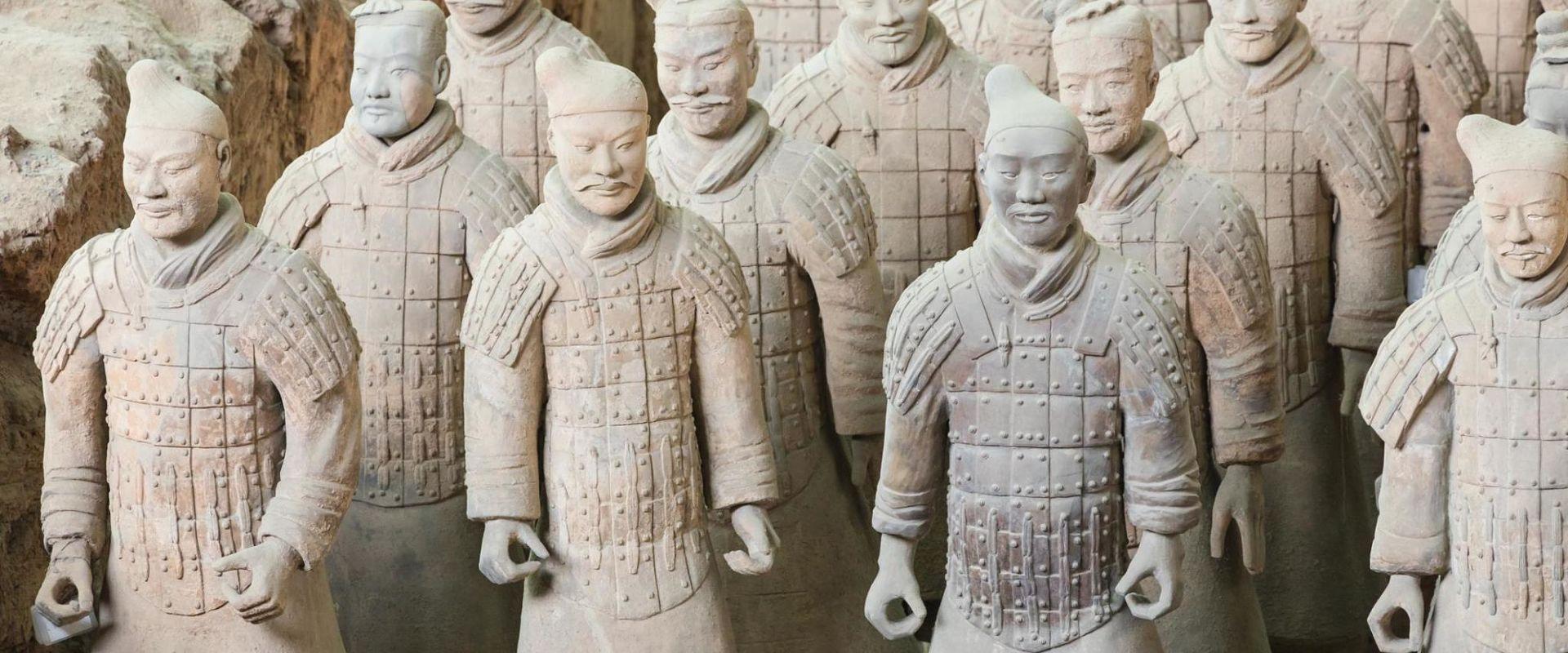 soldats en terre cuite de Qin Shi Huandi
